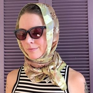 Vintage Preview Collection Oblong Silk Scarf